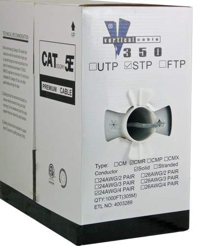 Cat5e Shielded PVC Gray 057-484 S ST GY box